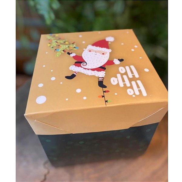 Caixa Cenário Noel Presentes Ref.1944 com 2 unid. - Erika Melkot Rizzo Confeitaria