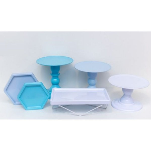 Kit Comemore MAIS - 18 Azul Céu, Tifany e Branco - 01 Unidade - Só Boleiras - Rizzo