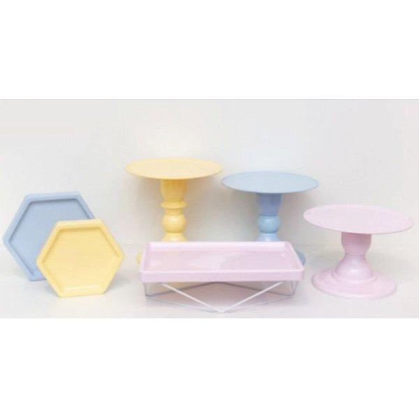 Kit Comemore MAIS - 20 Azul Candy, Creme e Rosa Candy - 01 Unidade - Só Boleiras - Rizzo