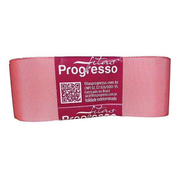 Fita Gorgurão Progresso 38mm nº9 - 10m Cor 009 Rosa Pétala - 01 unidade