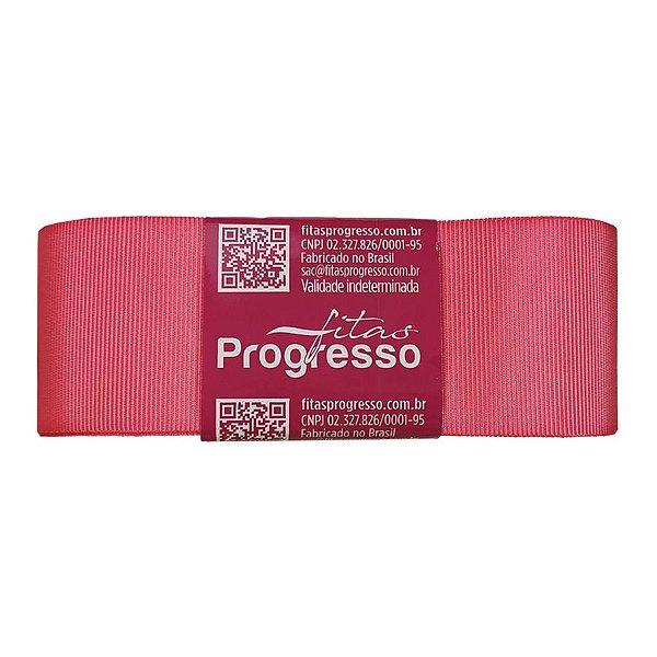 Fita Gorgurão Progresso 38mm nº9 - 10m Cor 1388 Rosa Camelia - 01 unidade