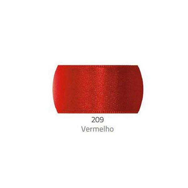 Fita de Cetim Progresso 50mm nº12 - 10m Cor 209 Vermelho - 01 unidade