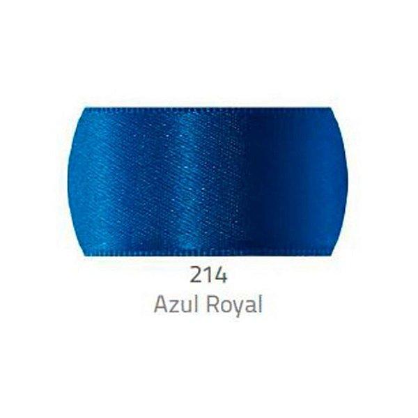 Fita de Cetim Progresso 50mm nº12 - 10m Cor 214 Azul Royal - 01 unidade