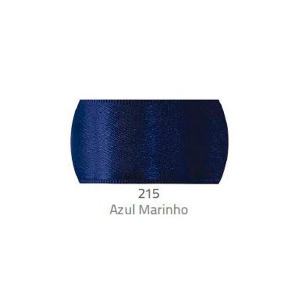 Fita de Cetim Progresso 50mm nº12 - 10m Cor 215 Azul Marinho - 01 unidade