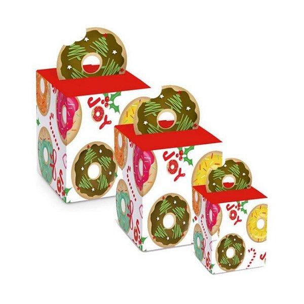 Caixa Panetone Pop Up Donuts - 10 unidades - Cromus Natal - Rizzo