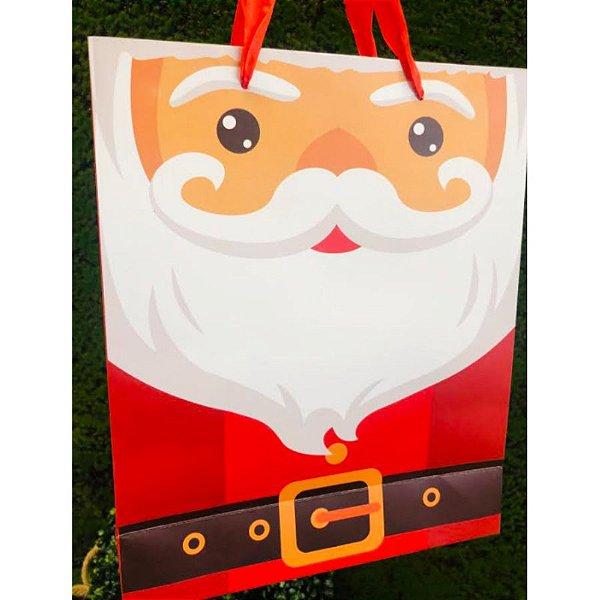 Sacola Decorada Natal M Papai Noel 1un