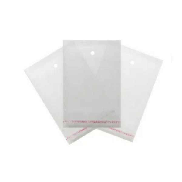 Saco Adesivado com furo - 8,5 x 22 cm - Rizzo