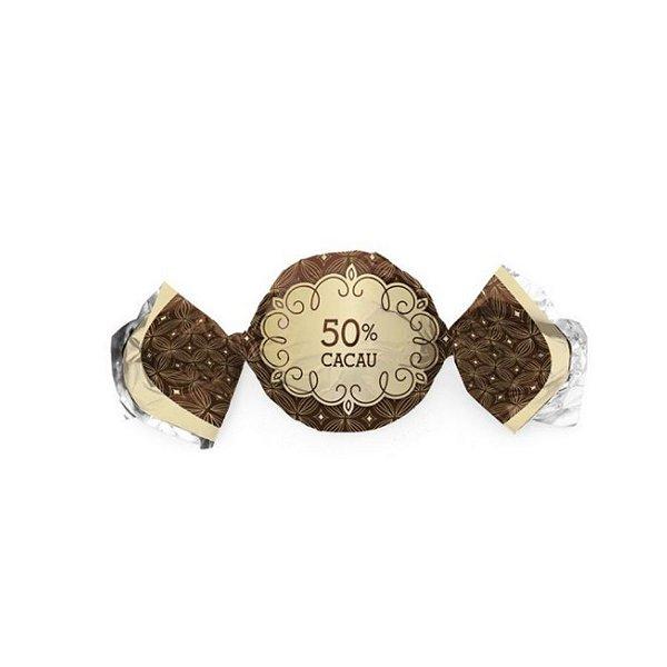 Papel Trufa 14,5x15,5cm - Gostosura 50% Cacau - 100 unidades - Cromus - Rizzo