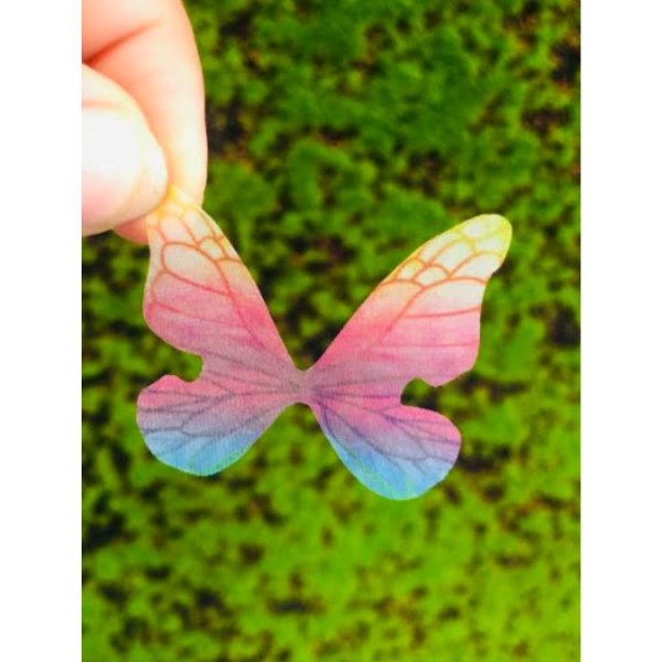 Enfeite decorativo Borboleta Tecido Tie Dye - 10uns - Rizzo Confeitaria