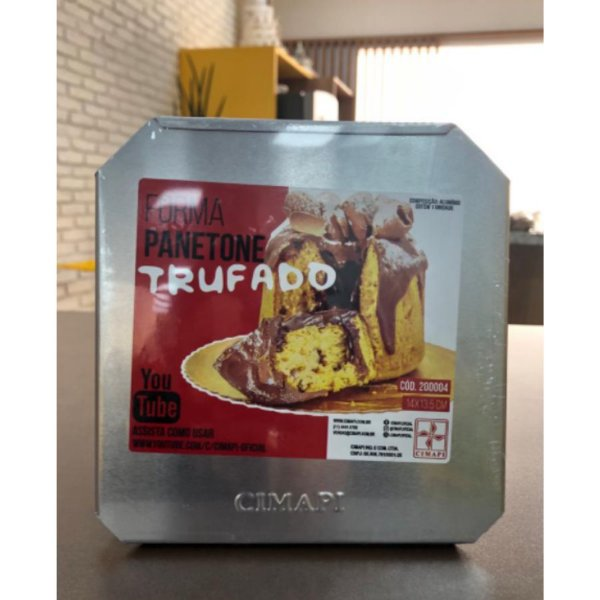 Forma Panetone Trufado 14x13,5cm Cimapi Rizzo Confeitaria