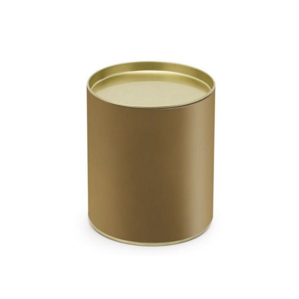 Lata para Bombons Liso Ouro G - 12x10cm - 01 unidade - Cromus - Rizzo