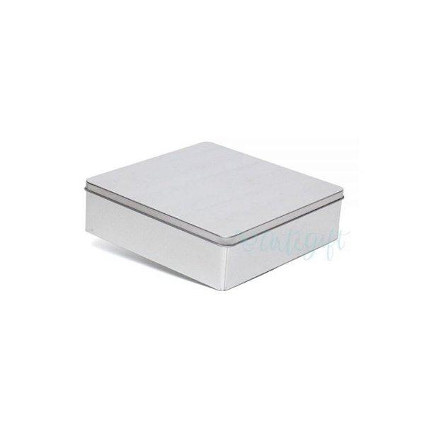 Lata Quadrada para Lembrancinha Prata G - 19,5 x 5,5cm - Artegift - Rizzo