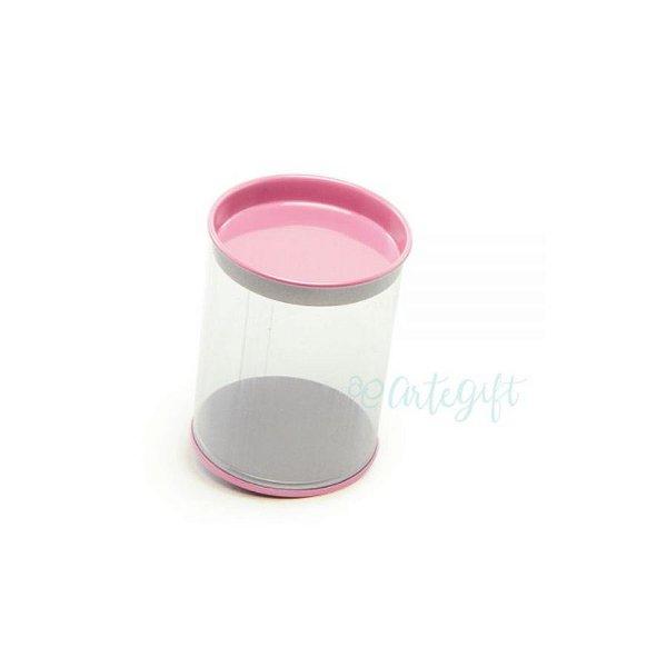 Tubo Lata Rosa - 8,5 x 6,3cm - 6un - Artegift - Rizzo