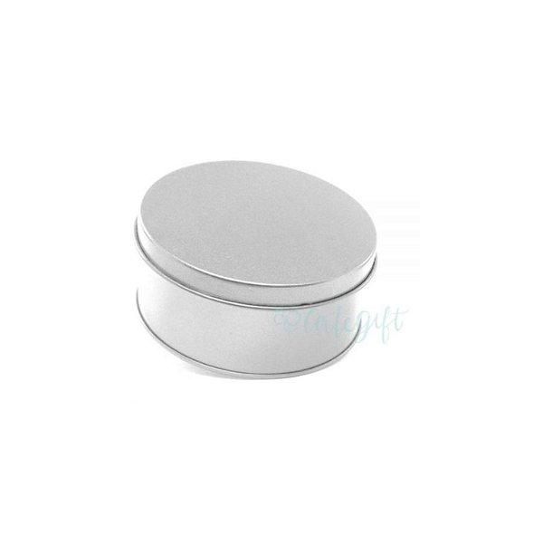 Lata Redonda para Lembrancinha Prata - 10 x 4cm - 1un - Artegift - Rizzo