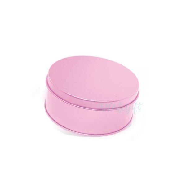 Lata Redonda para Lembrancinha Rosa - 10 x 4cm - 1un - Artegift - Rizzo