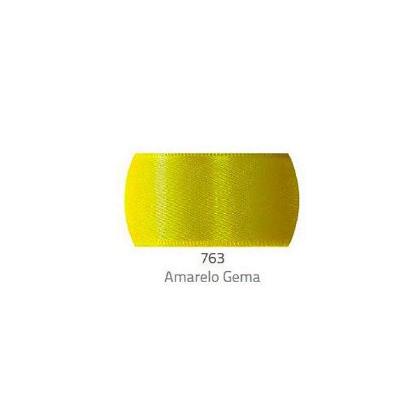 Fita de Cetim Progresso 10mm nº2 - 10m Cor 763 Amarelo gema - 01 unidade