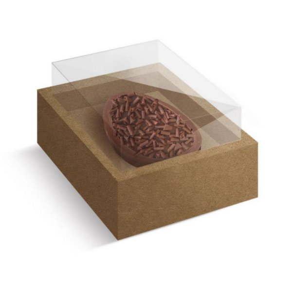 Caixa Ovo de Colher com Moldura Páscoa Kraft - 10 unidades - Cromus Profissional - Rizzo