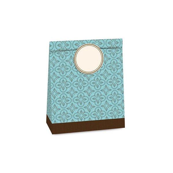 Sacolete de Papel Páscoa Chocolatier Sortido 14x10x5,5cm - 10 unidades - Cromus Páscoa - Rizzo
