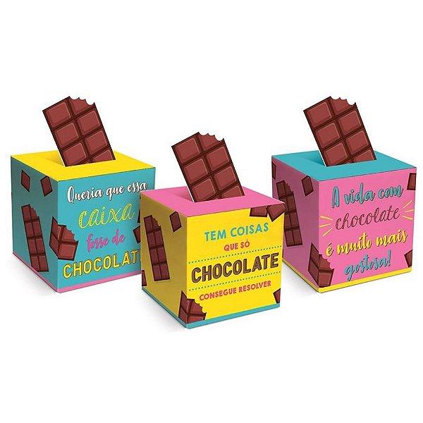 Caixa Pop Up Chocolate Sortido P 7x7x7cm - 10 unidades - Cromus Páscoa - Rizzo