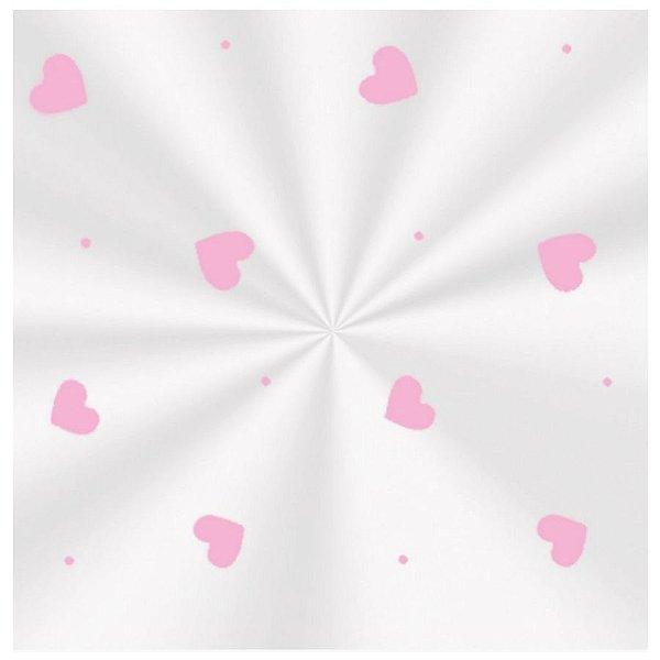Saco Decorado Love Rosa - 11x19,5cm - 100 unidades - Cromus - Rizzo
