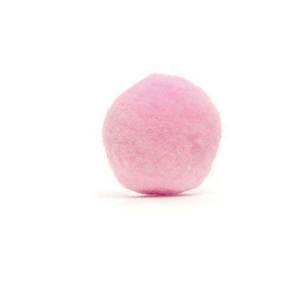 Pom Pom de Coelho para Decoração de Páscoa Rosa P - 1,5cm x 1,5cm - 60 unidades - Cromus Páscoa - Rizzo EmbalaMens