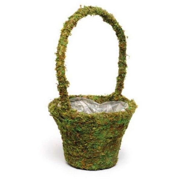Cesta com Alças Musgo Verde Rústica - 35cm x 20m x 20cm - Cromus Páscoa - Rizzo Confeitaria