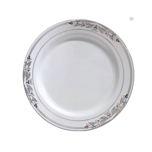Prato Refeição Vintage Prata   - 6 un - Silver Festas