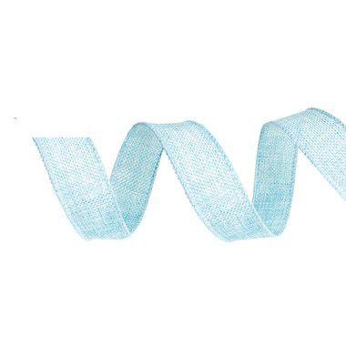 Fita de Juta Aramada Azul para Decoração de Páscoa  - 3cm x 9,14m - Cromus Páscoa