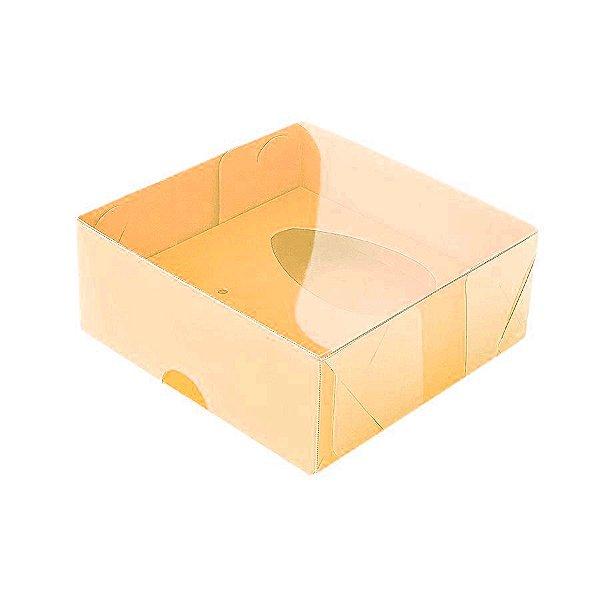 Caixa Ovo de Colher - Meio Ovo de 50g - 10cm x 10cm x 4cm - Laranja - 5unidades - Assk