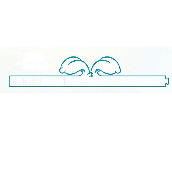 Orelhas de Páscoa Branco com Azul - 05 unidades -  Decora Doces