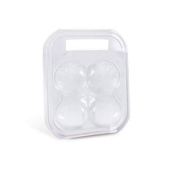Maleta para 4 ovos Transparente 17x12x6,5cm - 10 unidades - Cromus Páscoa - Rizzo