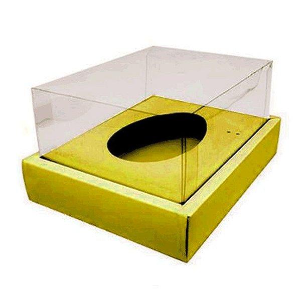 Caixa Ovo de Colher com Moldura - Meio Ovo de 500g - 23cm x 19cm x 10cm - Ouro - 5unidades - Assk - Páscoa Rizzo