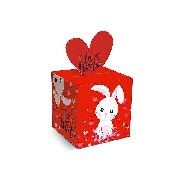 Caixa Pop Up Amor de Coração P 7x7x7cm - 10 unidades - Cromus Páscoa - Rizzo