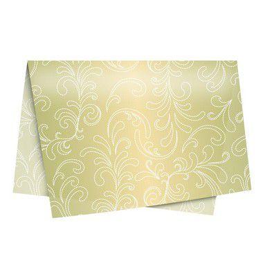 Papel de Seda - 49x69cm - Responto Ouro - 10 folhas - Rizzo