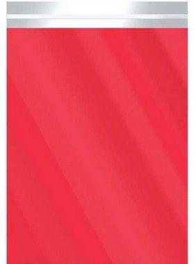 Saco Metalizado com Aba Adesiva Vermelho 25x35cm - 50 unidades - Cromus - Rizzo