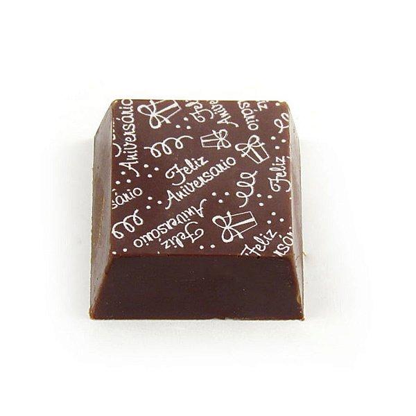 Transfer para Chocolate Feliz Aniversario TRG 8065 01 Stalden Rizzo Confeitaria