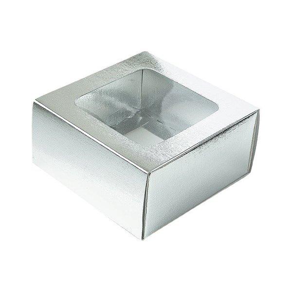 Caixa Gaveta com Visor Nº1 (8cm x 8cm x 4cm) Prata 10 unidades Assk Rizzo