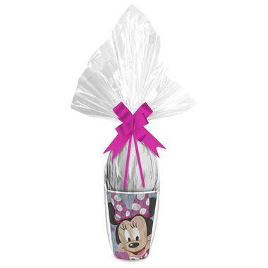 Kit Ovo no Copo Minnie Rosa Cores (Copo + Saco Express + Papel Chumbo + Laço Fácil) - Páscoa Rizzo