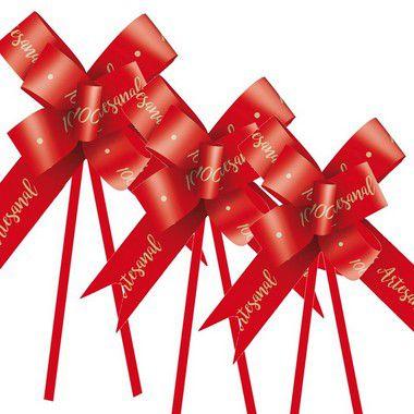Laço Fácil 100% Artesanal Vermelho - 10 unidades - Cromus Páscoa - Rizzo