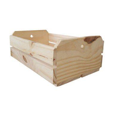 Caixote de Madeira Crú 28,5x18x11cm - 01 Unidade - Rizzo
