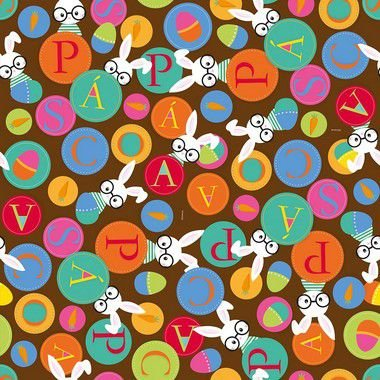 Folha para Ovos de Páscoa Cores Marrom 69x89cm - 05 unidades - Cromus Páscoa - Rizzo