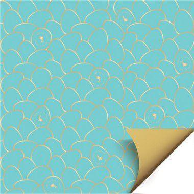 Folha para Ovos de Páscoa Double Face Astral Azul 69x89cm - 05 unidades - Cromus Páscoa