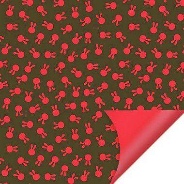 Folha para Ovos de Páscoa Double Face Coelhinhos Vermelho 69x89cm - 05 unidades - Cromus Páscoa