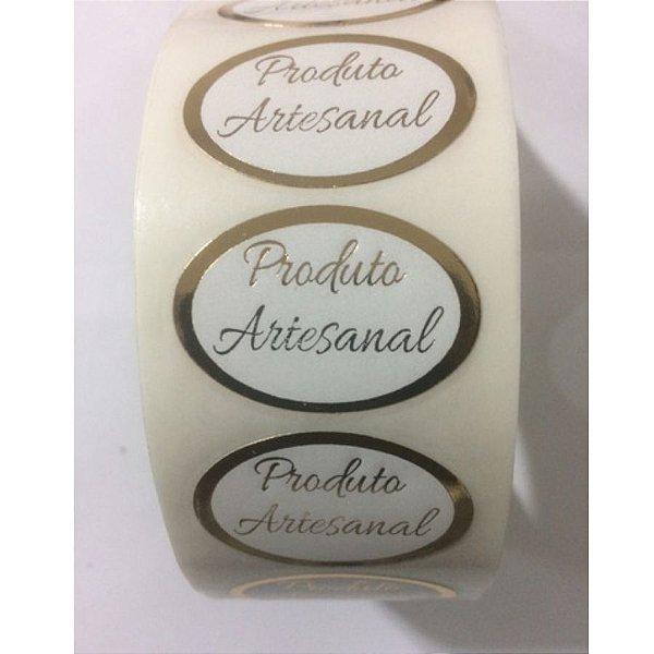 Etiqueta Adesiva Produto Artesanal c/ 1000 un. Rizzo Confeitaria
