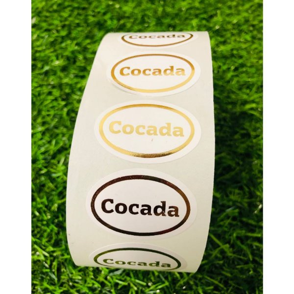 Etiqueta Adesiva Cocada c/ 1000 un. Rizzo Confeitaria
