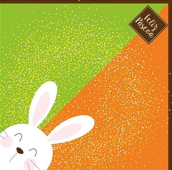 Saco Express 35x35cm para Ovos de 250g a 350g - Bicolor de Páscoa - 05 unidades - Cromus Páscoa - Rizzo Confeitaria
