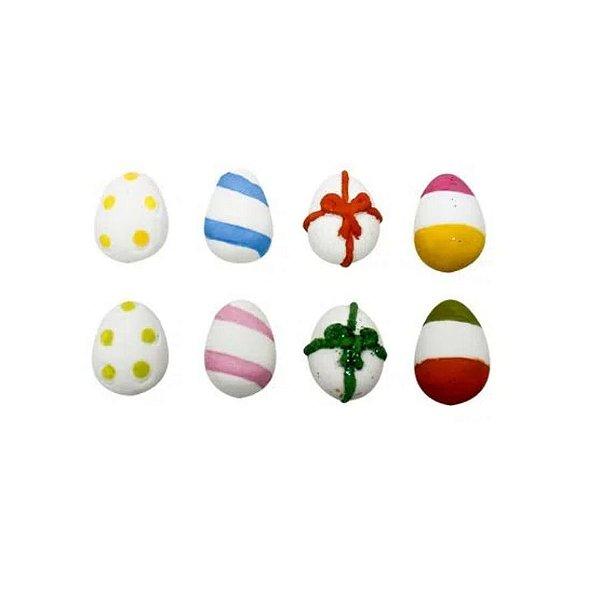 Ovos Mini Decorados 8u - Abelha Confeiteira - Rizzo Confeitaria
