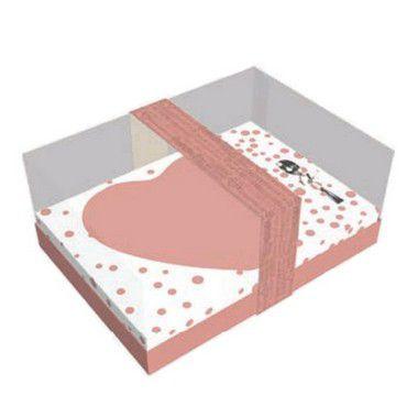 Caixa Coração de Colher 500g - Classic Rose Gold Cód 2999 - 05 unidades - Ideia Embalagens - Rizzo Embalagens