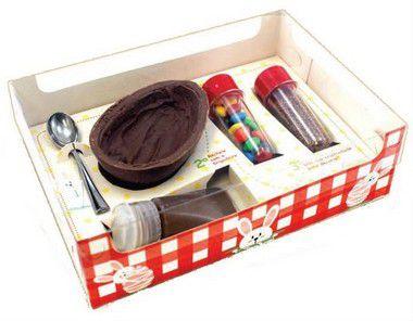 Caixa Kit Confeiteiro Xadrez Vermelho - Meio Ovo de 150g - 10 unidades - Ideia Embalagens - Rizzo