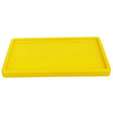 Bandeja Retangular 30x18cm Amarelo - 01 unidade - Só Boleiras - Rizzo